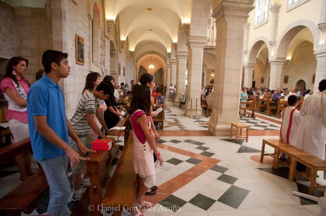 Misa de 11 en la iglesia de Santa Caterina