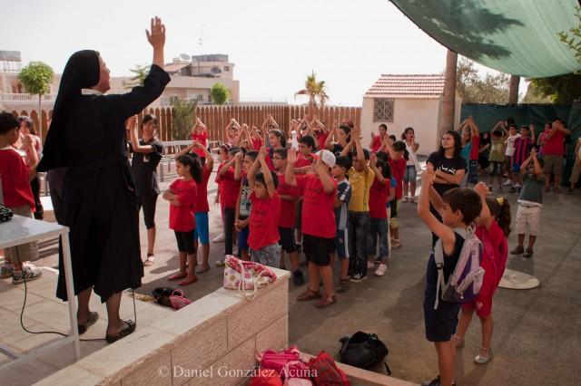 Campamento de verano de la parroquia de Beit Sahour