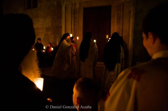 Celebración de la Pascua en el monasterio de Dečani